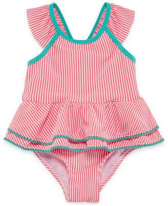 Asstd National Brand Stripe One Piece Swimsuit Toddler Girls