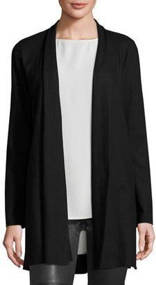 Eileen Fisher Fisher Project Boiled Wool Long Kimono Cardigan, Black $358 thestylecure.com