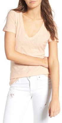Women's James Perse Slub Cotton V-Neck Tee $75 thestylecure.com