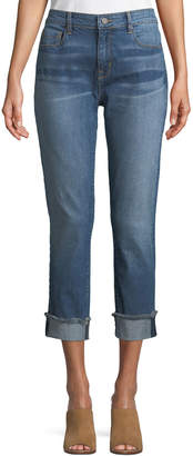 Neiman Marcus Parker Smith Anti-Fit Rolled-Cuffs Crop Jeans
