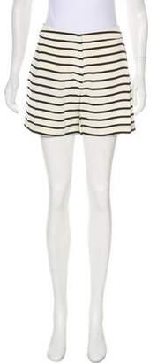Sophie Hulme Striped Mini Shorts
