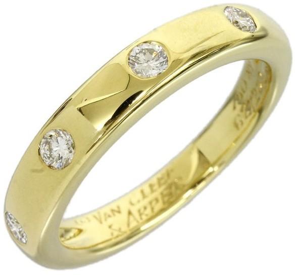 Van Cleef & ArpelsVan Cleef & Arpels 750 Yellow Gold Diamond Ring Size 4