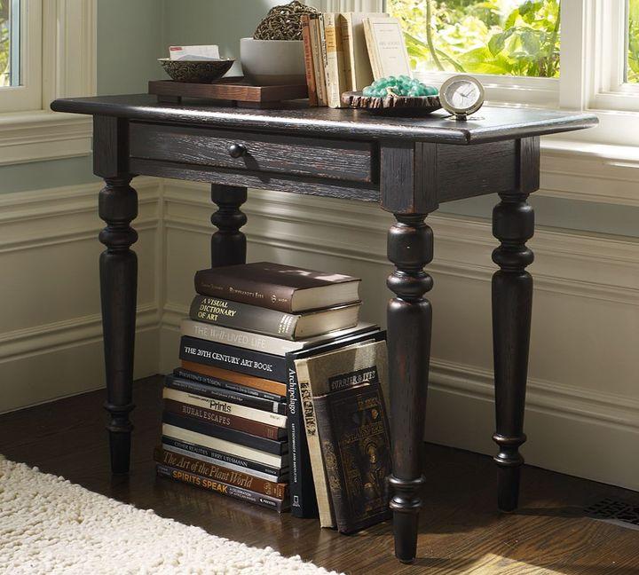 Tivoli Console Bedside Table - Artisanal Black stain