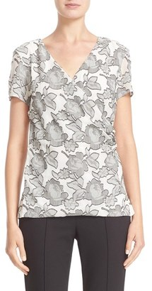 Women's St. John Collection Metallic Blossom Shell $545 thestylecure.com