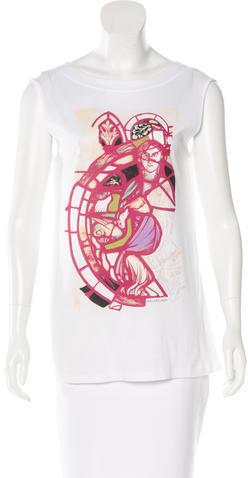 Balenciaga Balenciaga Graphic Print Sleeveless Top