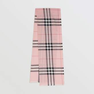 Burberry Lightweight Check Wool and Silk Scarf
