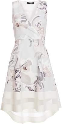 Dorothy Perkins Womens *Quiz Grey Wrap Dip Hem Dress