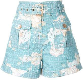 We Are Kindred Lulu printed broderie anglaise shorts