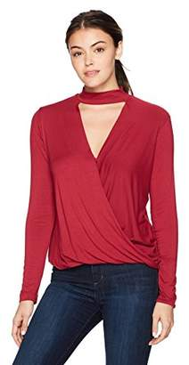 Ella Moss Women's Bella Long Sleeve Surplice Top
