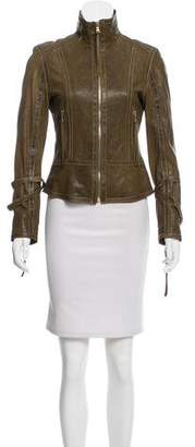 Andrew Marc Leather Structured Jacket