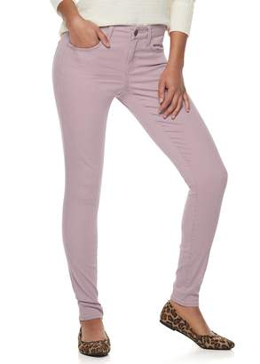 So... Juniors' SO Color Low Rise Twill Jeggings