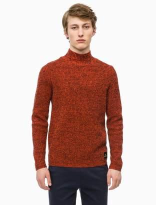 Calvin Klein mouline wool mock neck sweater