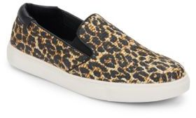 Salt King Leopard Print Slip-On Sneakers $69 thestylecure.com
