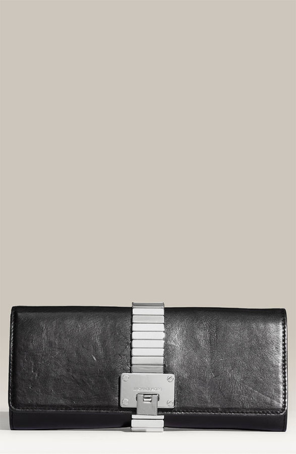 Michael Kors 'Hadley' Leather Clutch