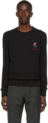 Alexander McQueen Black Organic Loopback Sweatshirt