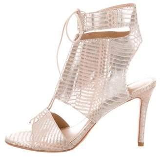Loeffler Randall Metallic Lace-Up Sandals
