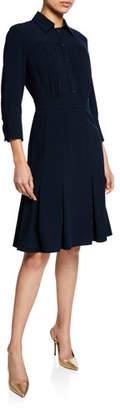 Elie Tahari Brinx Button-Front 3/4-Sleeve Shirtdress