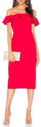 Jay Godfrey Red Ruffle Dress