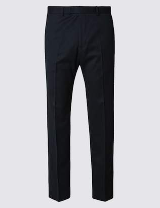 Marks and Spencer Big & Tall Navy Regular Fit Trousers
