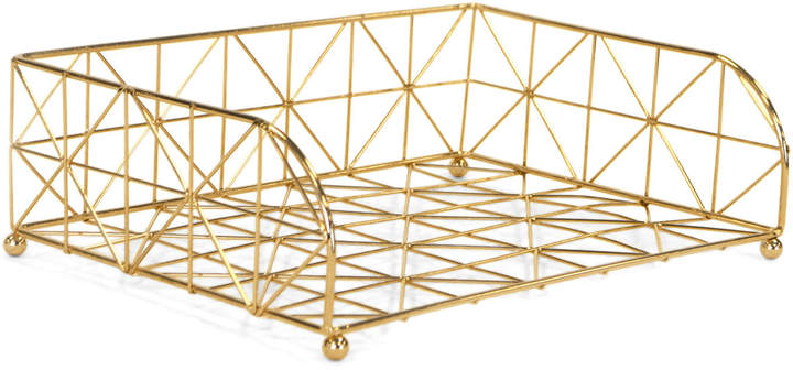 Robely Gold-Tone Letter Tray