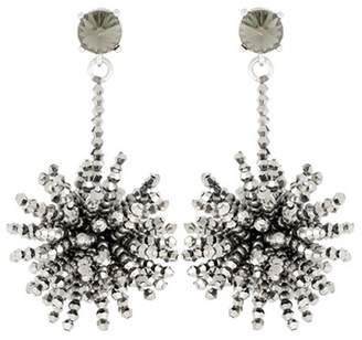 Oscar de la Renta Crystal-embellished beaded earrings