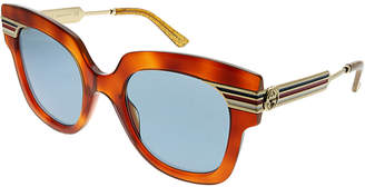 Gucci Women's Rectangular 50Mm Sunglasses
