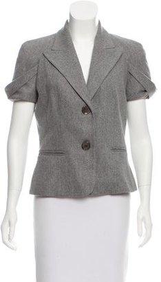 Michael Kors Short Sleeve Wool Blazer