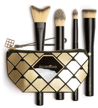 Mirenesse Diamond Luxury Pro 4-Piece Vegan Brush Set