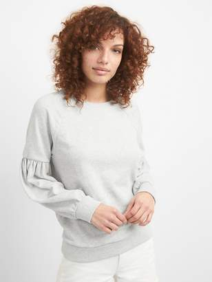Gap Puff Sleeve Pullover Sweatshirt in French Terry