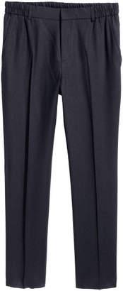 H&M Elasticized Wool Pants - Blue