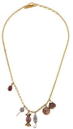 Marc Jacobs Crystal Poolside Charm Necklace