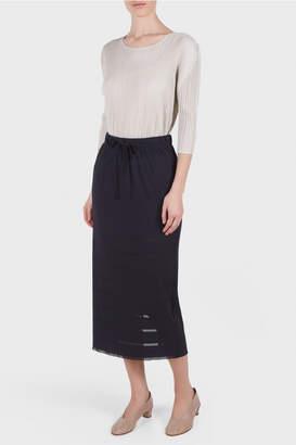 Pleats Please Issey Miyake A POC Basic Midi Skirt