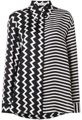 Stella McCartney zig zag pattern shirt