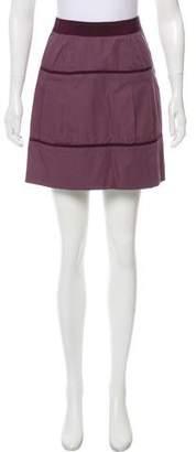 Philosophy di Alberta Ferretti Grosgrain-Trimmed Mini Skirt