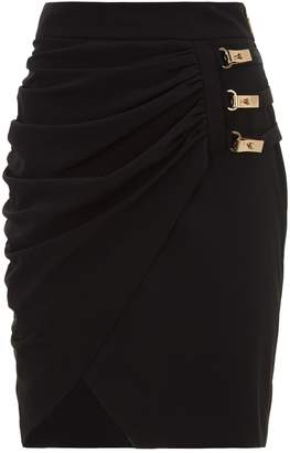La Mania Ruched Wrap Skirt