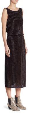 Marc JacobsMarc Jacobs Glitter Pinstripe Dress