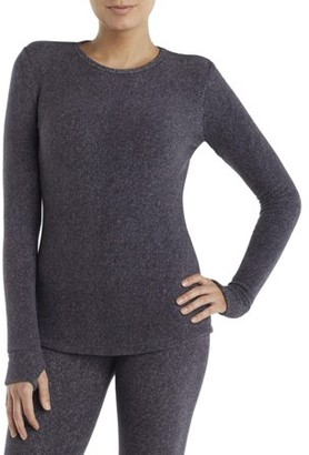 Cuddl Duds ClimateRight by Cudd Duds ClimateRight by Women's Stretch Fleece Warm Underwear Long sleeve Top