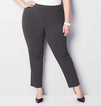 Avenue Plus Size Super Stretch Welt Pocket Pull-On Pant In Grey