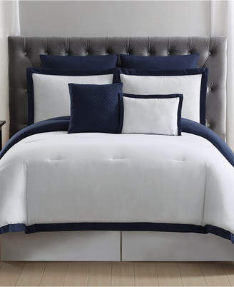 +Hotel by K-bros&Co Truly Soft Everyday Hotel Border 7-Pc. King Duvet Cover Set Bedding