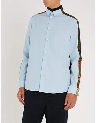 Oamc Postcard-print cotton shirt