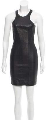 Mason Leather Paneled Bodycon Dress