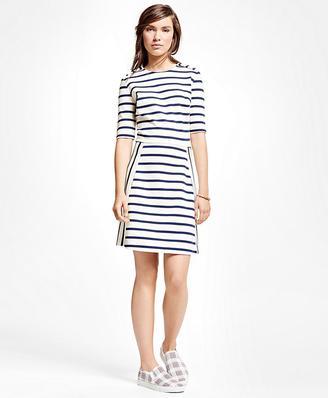 Cotton Blend Ponte Dress $98 thestylecure.com