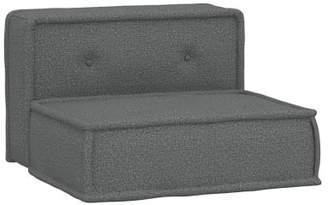 Pottery Barn Teen Cushy Lounge Armless Chair, Tweed Charcoal, QS UPS