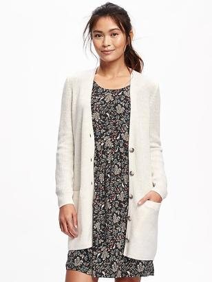 Relaxed Shaker-Stitch Cardi for Women $42.94 thestylecure.com
