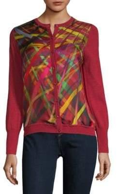 Escada Printed Wool & Silk Cardigan