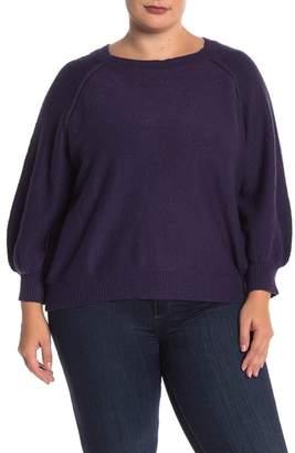 Melrose and Market Raglan Dolman Sleeve Sweater (Plus Size)