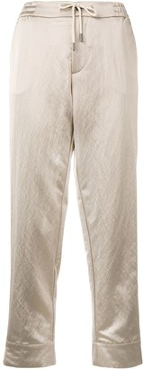 Berwich straight cropped trousers