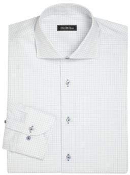 COLLECTION Regular-Fit Graph Paper Dress Shirt