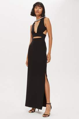 Topshop Cutout Trim Maxi Dress