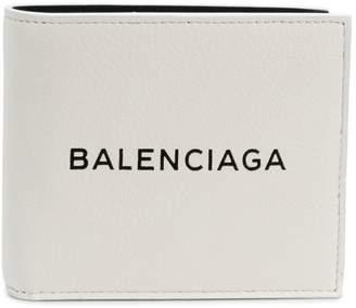 Balenciaga bifold logo wallet